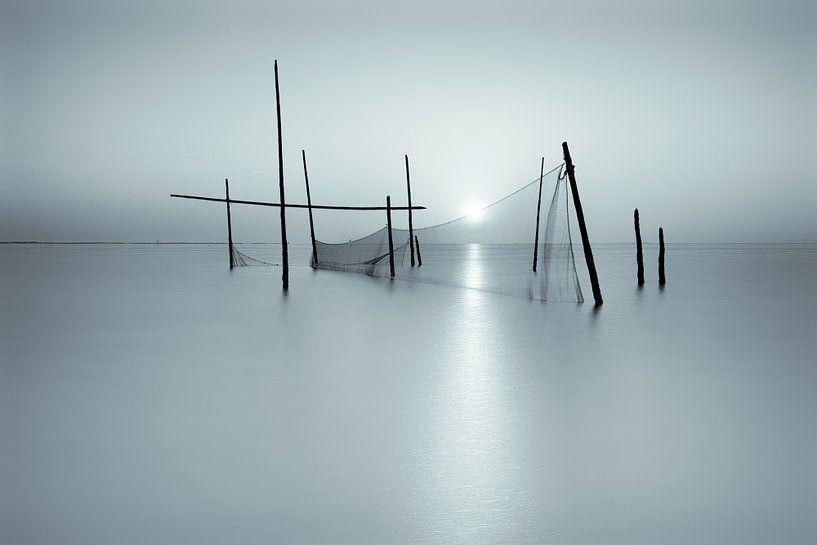 Visnetten op de Noordzee van Vandain Fotografie