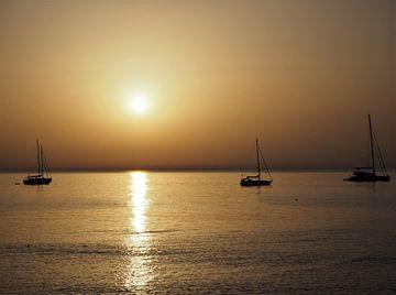 Sonnenuntergang Sizilien Cévalù von Eline Melis