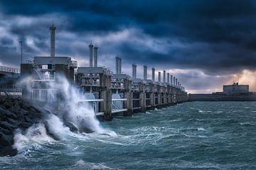 Storm bij Neeltje Jans van Sander Poppe