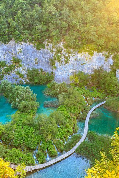 Plitvice lakes and waterfalls, Croatia van Sander Meertins