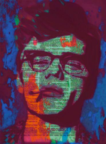 James Dean Newspaper Pop Art PUR 1 van Felix von Altersheim