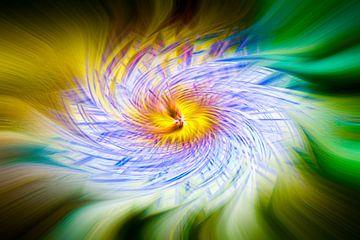 Passiebloem abstract van Adri Rovers