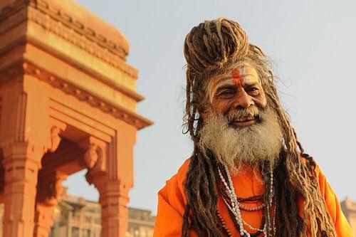 Sadhoe, heilige man in India van