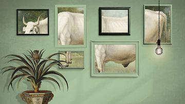 Study of Cow sur Marja van den Hurk
