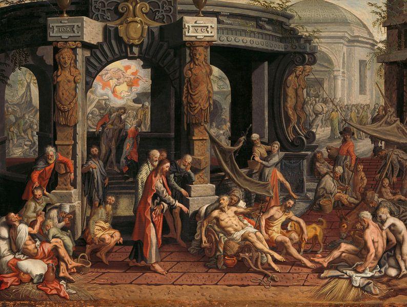 Die Heilung des Krüppels von Bethesda, Pieter Aertsen, 1575. von Marieke de Koning