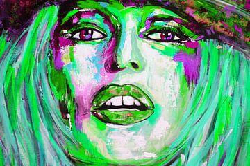 """Brigitte Bardot """"Visage von Kathleen Artist Fine Art"""