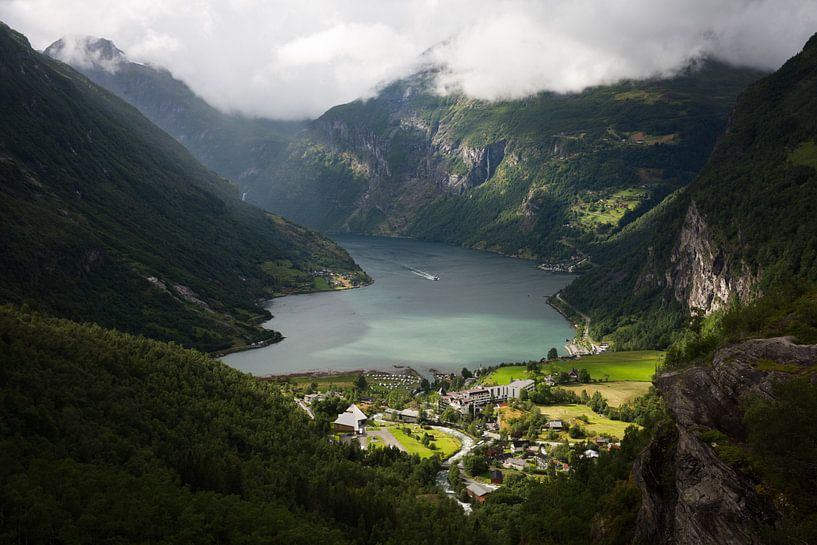 Geirangerfjord Norway van Eriks Photoshop by Erik Heuver