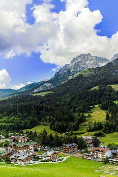 Belle vue de Leogang en Autriche sur Debbie Kanders