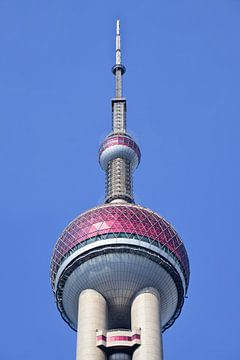 Oriental Pearl Radio & Fernsehturm Stadtteil Pudong Shanghai von Tony Vingerhoets