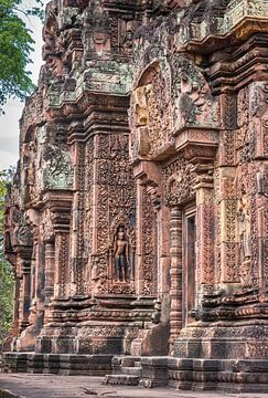 Tempel Banteay Srei, Cambodja van Rietje Bulthuis