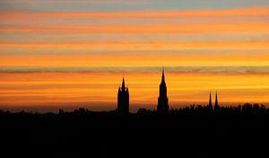 Zonsopgang boven Delft
