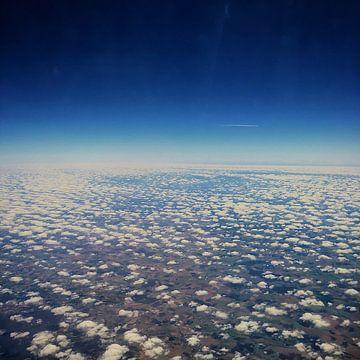 Vliegend over Frankrijk van