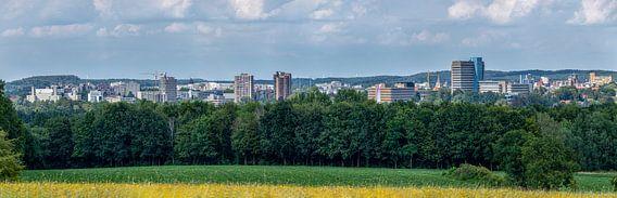Skyline van Heerlen tijdens de zomer van 2020