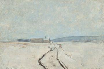 John Henry Twachtman~ Entlang des Flusses, Winter