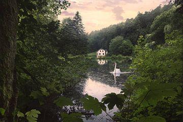 Kleines haus am See sur Arjen Roos
