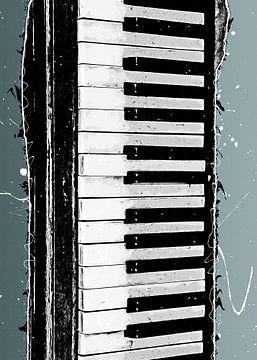 Toetsenbord muziekkunst #Keyboard van JBJart Justyna Jaszke