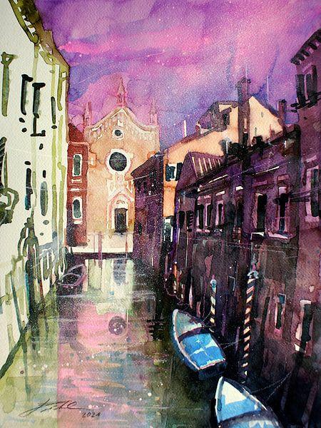 Venise, Rio Brazzo sur Johann Pickl