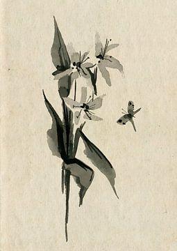 Blumen mit Schmetterling von Lucia