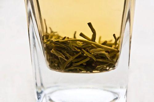 Een glas Chineze Puerh thee