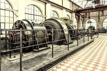 Ward-Leonard schakeling ophaalmachine kolenmijn Winterslag (B) van Marianne Dirix