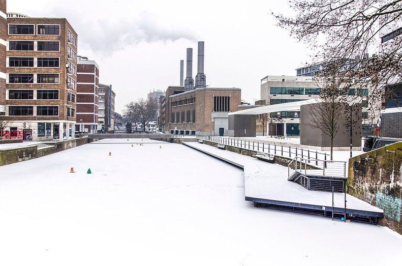 Winter bij de Delftsevaart van Frans Blok