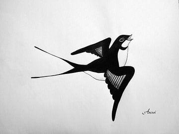 Swallow sur Iwona Sdunek alias ANOWI