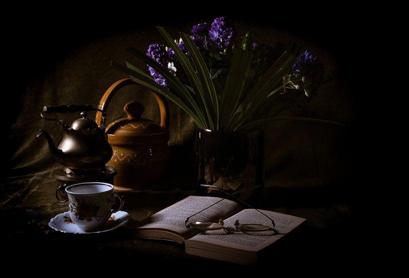 Stilleven koffietijd van Joke Beers-Blom