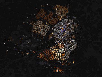 Kaart van Oldenzaal abstract sur Stef Verdonk