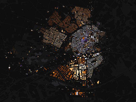 Kaart van Oldenzaal abstract van Stef Verdonk