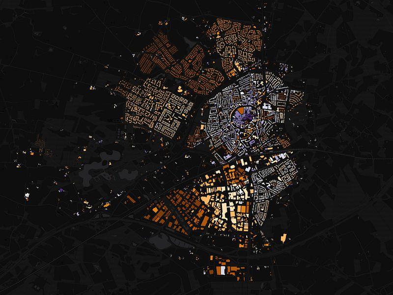 Kaart van Oldenzaal abstract