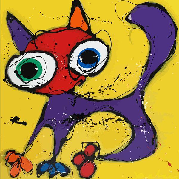 Yellow Cat van Jacky Zegers