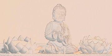 Boeddha met lotusbloemen van