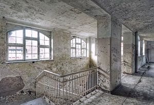 Urbex in Beelitz Heilstätten, Berlijn. van