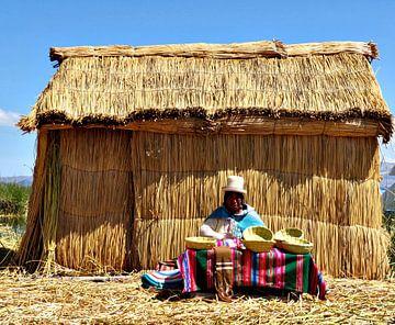 Frau beim Körbe flechten von zam art