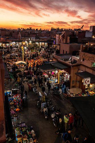 Zonsondergang over Marrakesh