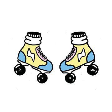 Soft colored rollerskates  sur