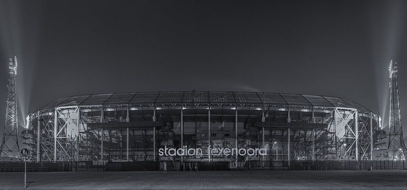 Feyenoord Rotterdam stadium 'De Kuip' at Night - part seven van Tux Photography