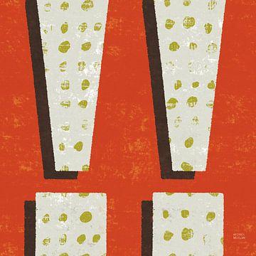 Onderbundeld vierkant ik retro, Michael Mullan van Wild Apple