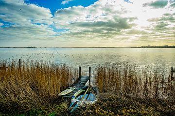 bootjes aan het IJsselmeer van nol ploegmakers