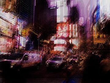 Times Square van Corneelia Wall Art