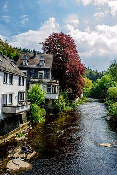 huizen langs de rivier von Mark van den Burg