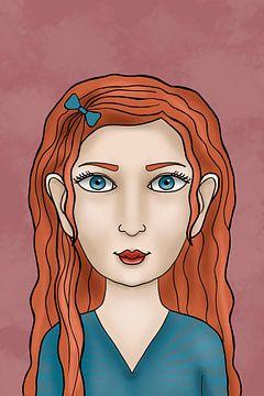 Eens was ik een fee - Rusalka - Portret van een meisje | Victoria Zotova, Rusland van Buzzles Gallery