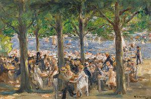 Tuinrestaurant aan de rivier de Havel onder de bomen, Max Liebermann