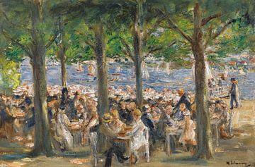Tuinrestaurant aan de rivier de Havel onder de bomen, Max Liebermann van