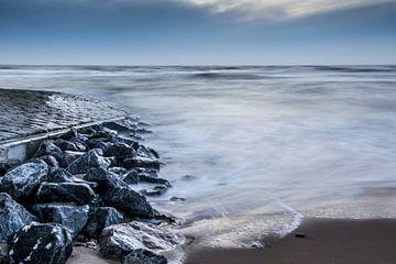 Blauwe zee van Patrick Herzberg