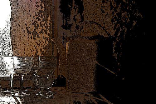 Nature morte avec verres