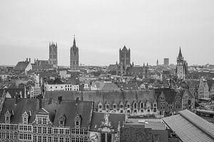 Het uitzicht over de stad Gent