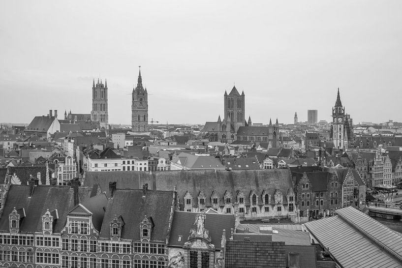 Het uitzicht over de stad Gent van MS Fotografie   Marc van der Stelt