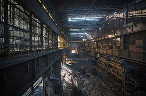 Eine alte verlassene Stahlfabrik in Belgien