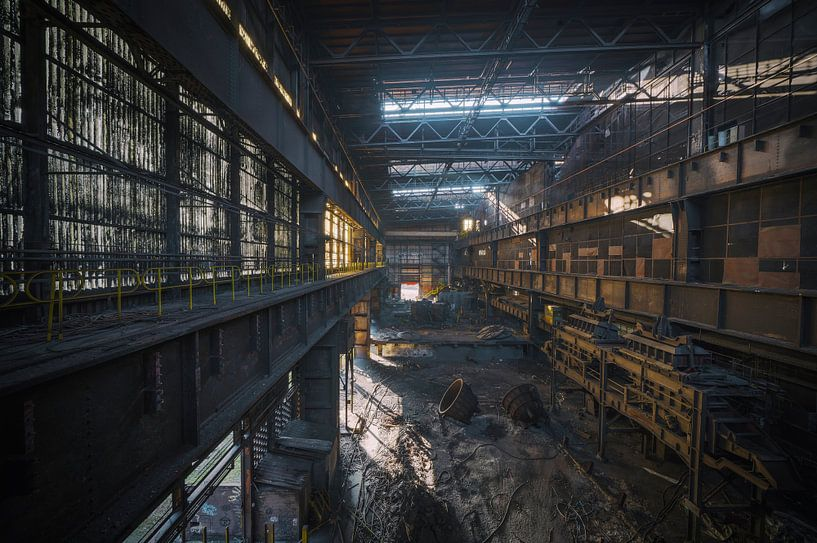 Eine alte verlassene Stahlfabrik in Belgien von Steven Dijkshoorn